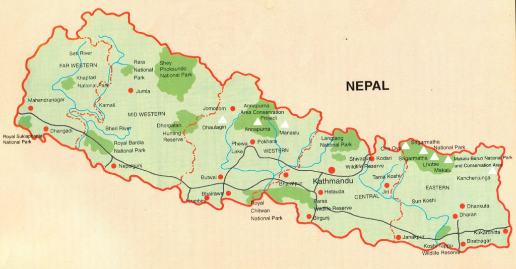 nepal-travel-map