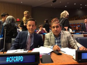 2018 Brent Morgan and Amar Timalsina at UN Convention
