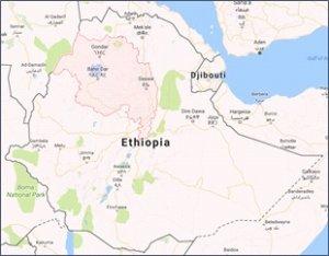 plattegrond ethiopië
