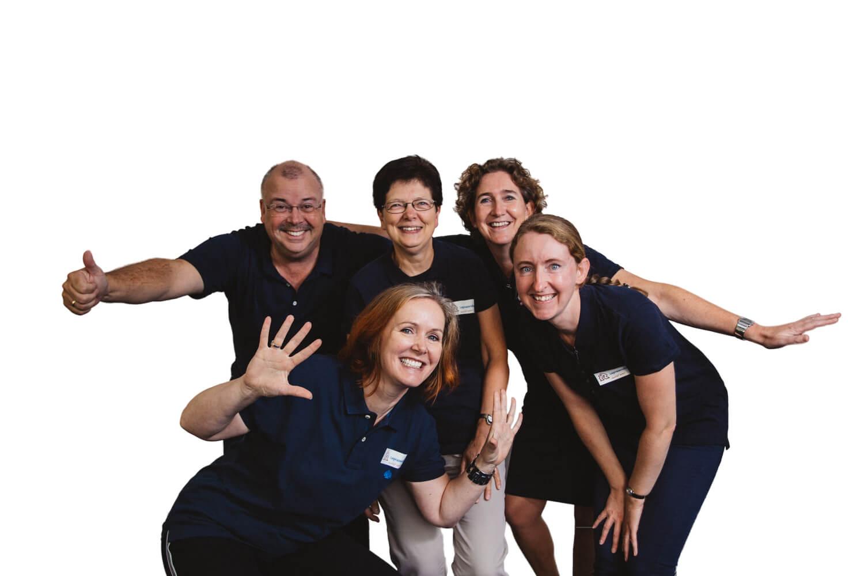Vrijwilligers en medewerkers van Leprazending