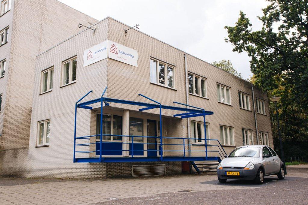 Het kantoor van Leprazending.